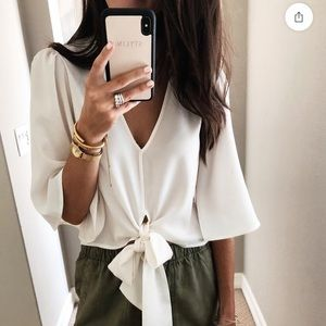 White Nordstrom Top size M